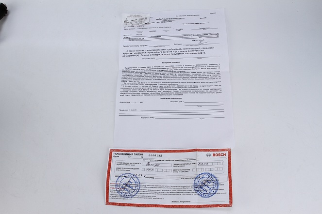 Товарный чек, информация о возврате, гарантийный талон в интернет-магазине electrovenik.ru